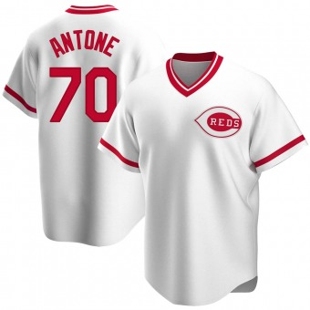 Youth Replica Cincinnati Reds Tejay Antone Home Cooperstown Collection Jersey - White