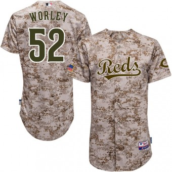 Youth Authentic Cincinnati Reds Vance Worley Majestic Cool Base Alternate Jersey - Camo