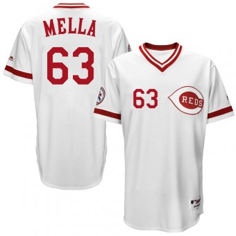 Youth Replica Cincinnati Reds Keury Mella Majestic Cool Base Turn Back the Clock Team Jersey - White