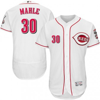 Authentic Cincinnati Reds Tyler Mahle Majestic Flex Base Home Collection Jersey - White