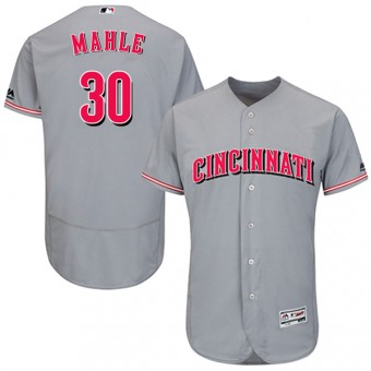 Authentic Cincinnati Reds Tyler Mahle Majestic Flex Base Road Collection Jersey - Gray